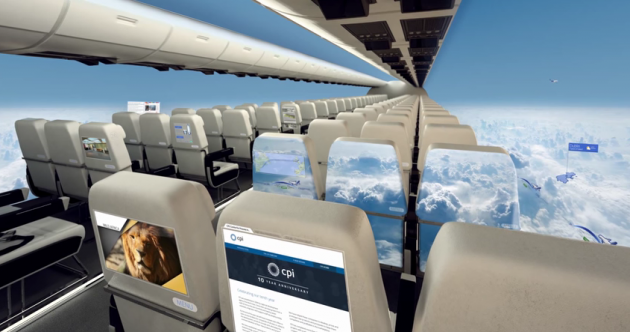 Windowless planes are on the way and they're pretty slick