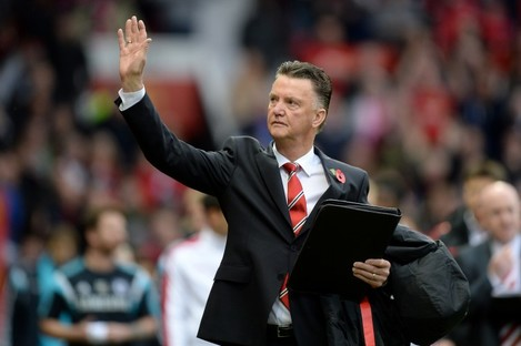 Manchester United manager Louis van Gaal last Sunday.