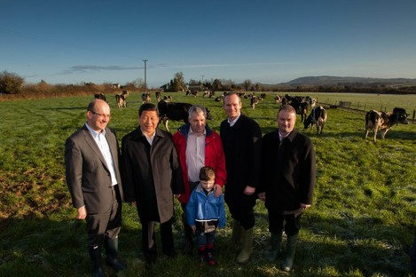 Xi Jinping with Simon Coveney during his 2012 trip to Ireland.