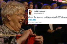 This knitting granny created a lot of confusion on the Late Late Show last night