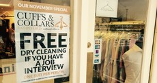 This Dublin shop will clean your suit for free if you have a job interview