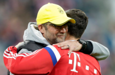 Kloppo and Lewandowski hugged it out before Der Klassiker