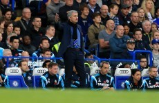 Jose Mourinho has criticised the lack of atmosphere at Stamford Bridge