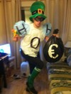 This water charges costume is a late contender for winner of Halloween