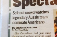 All Blacks called Australian by Chicago paper