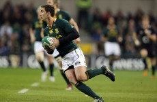Ruan Pienaar likely to miss out but Springboks in ominous condition for Dublin showdown