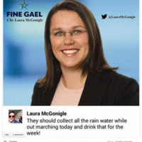 Fine Gael councillor 'incredibly sorry' for telling protesters to collect rainwater and drink it