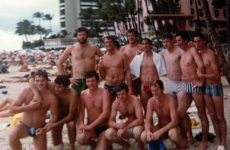 Bomber, Páidí and Jacko in the best beach pic you'll see of the Kerry Golden Years team