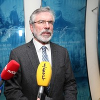 This was the odd exchange between Gerry Adams and a TV3 journalist today