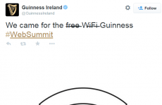 Guinness got a sneaky dig in at Web Summit's Wi-Fi problems today