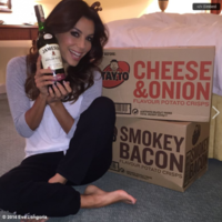 Eva Longoria got more than 100 packs of Tayto delivered to her room