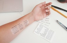 These temporary tattoos of music festival timetables should totally be a thing