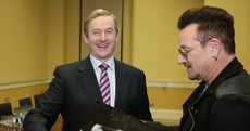 We all have the new U2 album, but Enda Kenny now has it on vinyl...