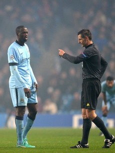 Yaya Toure curled in the perfect free-kick, but was sent off as City lost to CSKA