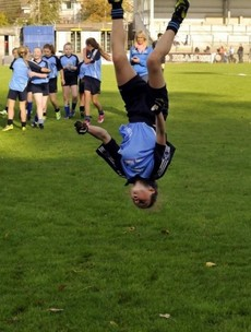 This young GAA star was head over heels for her school's title win