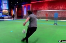 Owen Hargreaves scores a tasty rabona at BT Sport studios