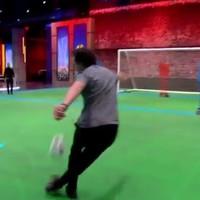 Owen Hargreaves scores a tasty rabona at BT Sport studios