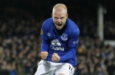 Everton's Steven Naismith was on top form tonight ahead of the Ireland qualifier