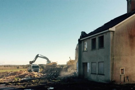 The diggers in action at the Shannon Valley estate in Roscommon last week. 20 units are being destroyed at the Ballaghaderreen development.