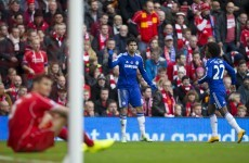 Chelsea had goal line technology to thank as they came from behind at Anfield
