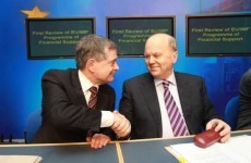 """Ireland's bailout progress is """"on track"""" - says the Government"""