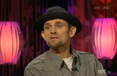 The 'Jesus saves!' guy from Love/Hate rapped on the Saturday Night Show