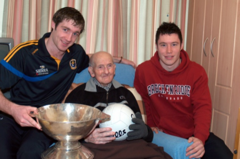 Luke Dolan with David O'Gara and Cathal Cregg from the 2010 Roscommon Senior Football Team