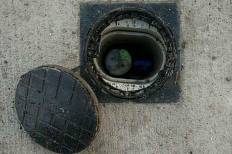 File photo of a newly installed water meter.