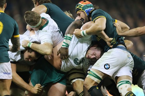 Jack McGrath was at the centre of Ireland's mauling efforts.