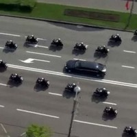 Unfortunately, Putin didn't really travel in this penis-shaped motorcade