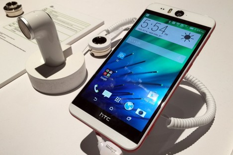 Those using Android devices like the HTC Desire EYE (pictured) should encrypt their phone first before wiping it and giving it to someone else.