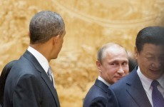 Things got pretty awkward for Barack Obama and Vladimir Putin in China today