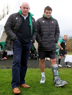 Jared's pain and 12 more pictures from Ireland's training session today