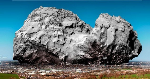 Here's what Comet 67P would look like if it landed in Cork City