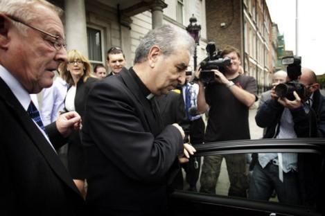 Papal Nuncio Giuseppe Leanza in Dublin yesterday.