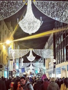 It's officially Christmas time... the lights in Cork and Dublin got switched on