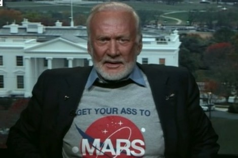 Buzz Aldrin said those that travel to Mars in the years to come shouldn't envisage that they will ever return to Earth.