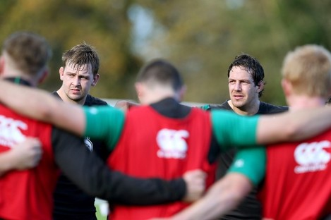 Dave Foley and Mike McCarthy are Ireland's starting locks this weekend.