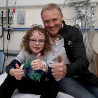 Joe Schmidt and the Ireland team visited Temple Street Children's Hospital