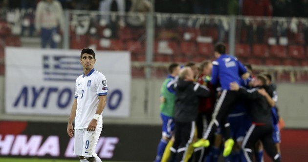 Northern Ireland lose 100% record, as Greece beaten 1-0 by Faroe Islands