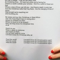 Here are the new lyrics for Band Aid 30's Feed the World
