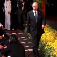 And he's off... Vladimir Putin's heading home from the G20 early