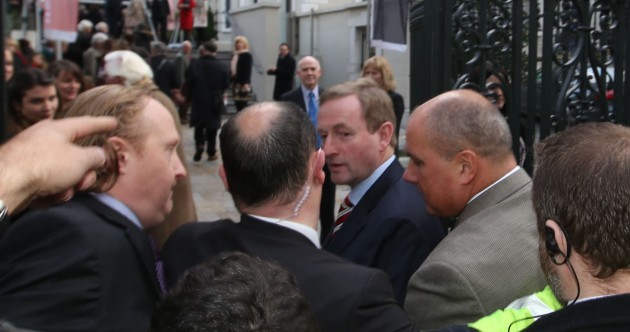 Pics: Taoiseach confronted by water charge protesters