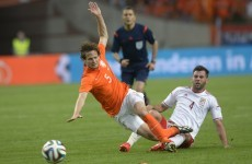More injury woe for Louis van Gaal as Daley Blind limps off with knee injury