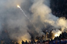 Italy v Croatia suspended because visiting fans wouldn't stop throwing flares