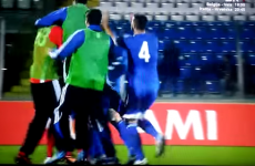 Check out San Marino's fantastic reaction to their first-ever Euros point