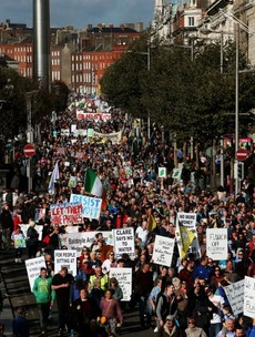 Water, abortion rights and determined sit-ins: 2014 was a year of Irish protests