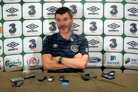 Assistant manager Roy Keane has criticised Everton for their treatment of James McCarthy and Seamus Coleman