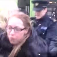 'The tall guard in black, he saved my life': Water protester speaks out about bollard incident