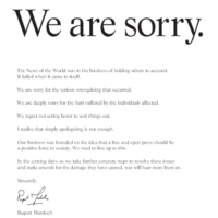 Rupert Murdoch signs public apology public over phone-hacking